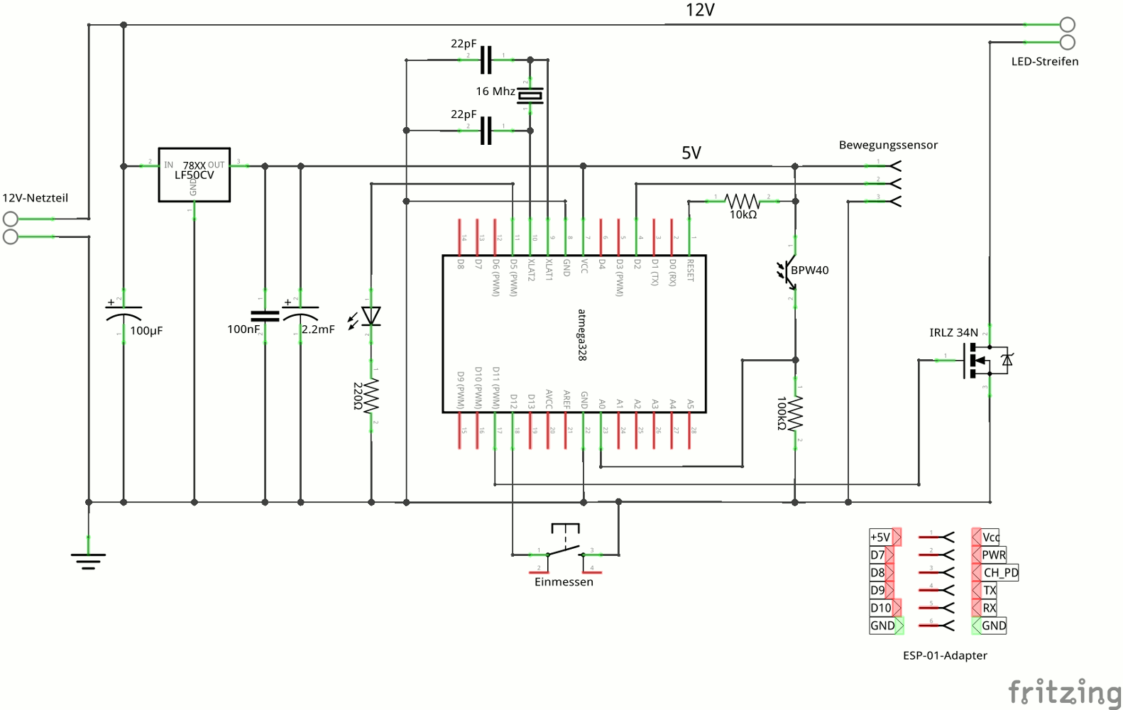 schaltplan eines bewegungsmelders wiring diagram